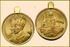 1911/2 George V Coronation,Commonwealth Celebrations Gilt Bronze