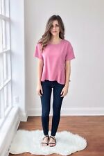 BNWT STORM & MARIE PINK WASHED SILK TOP SIZE UK L 14  US 10 RRP £105