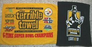 PITTSBURGH STEELERS TERRIBLE TOWELS 6 TIME CHAMPION AND  KNOCKING ON 7'S DOOR