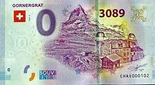 BILLET 0  EURO GORNERGRAT  SUISSE 2020 NUMERO DIVERS