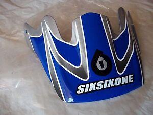 SIXSIXONE BRAVO CARBON BICYCLE HELMET VISOR BLUE/SILVER/WHITE/BLK
