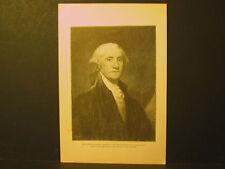 George Washington Portrait  Engraving 1889