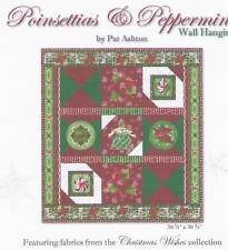 Christmas Poinsettias & Peppermints Wall Quilt Kit by Studio E Fabrics REDUCED