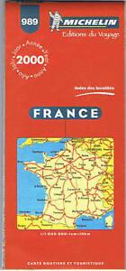 Carte MICHELIN 989 FRANCE 2000 COLLECTOR  Etat neuf !