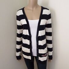 Hollister Womens Striped Cardigan Sweater Size Medium Sweatshirt Top Shirt