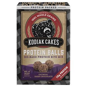 Kodiak Cakes Protein Balls No Bake Oatmeal Dark Chocolate (1) 12.7 oz Box