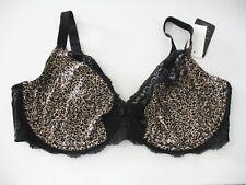 Olga Flirty Lace Unlined Underwire Bra Brushed Animal Print GI9711A Sz 42G - NWT