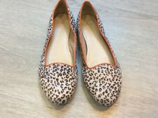Clarks animal print pumps with orange trim size 6/39