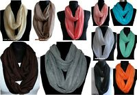 LOVELY NEW WOMEN LADIES JERSEY CIRCLE LOOP COWL SHAWL INFINITY PLAIN SCARF SNOOD