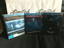 PARANORMAL ACTIVITY trilogia STEELBOOK -limited edition-3 DISCHI-audio ITA