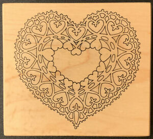 PSX K-1643 Heart Doily Rubber Stamp