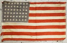 ANTIQUE OR VINTAGE 48 STAR AMERICAN PARADE FLAG CHICAGO IL AMERICANA RED WHITE