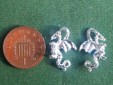 10 Dragon Charms - bright 3D - Mythology Knight Welsh UK Symbol BUY 4 GET 1 FREE