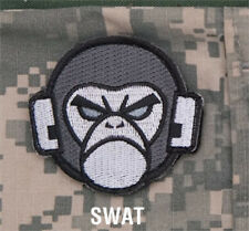 MORALE Patch Mil spec Monkey-ANGRY MONKEY HEAD SWAT hook back
