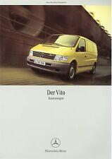 Prospekt 2002 Mercedes Vito Kastenwagen 1 02 brochure Auto Pkw broschyr Europa
