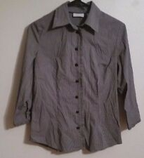 New York & Company  Long Sleeve Button Up Top blouse Women's S