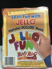 VINTAGE NOS JELL-O JIGGLERS~ALPHABET MOLDS~NEVER USED