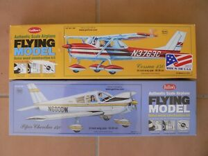 2 Gullow's Scale Rubber kits Cessna 150 & Piper Cherokee140
