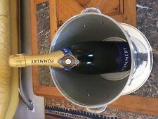 1 Seau a Champagne  POMMERY avec Socle en Aluminium argenté + Bouteille Factice