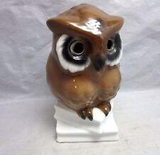 Vtg German porcelain owl on stack of books library figurine. NO eyes. W. Germany
