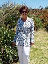 Rayon Long Sleeve Machine Washable Geometric Tops & Blouses for Women