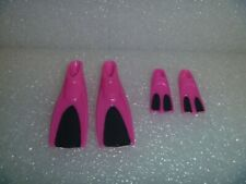 Barbie Shoes - Actually 2 Color Swim Fins For Her and Kelly Size