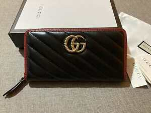 GUCCI Women Wallet Vintage Gold GG Leather Purse GG Logo Made in Italy Auth.