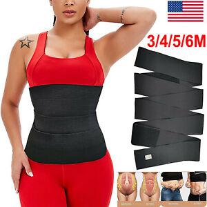 Snatch Me Up Bandage Wrap Lumbar Waist Support Sauna Belt Trimmer Body Shaper