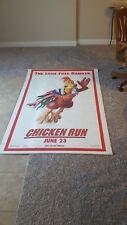 Chicken Run Original 2-Sided Vinyl Movie Banner Rare