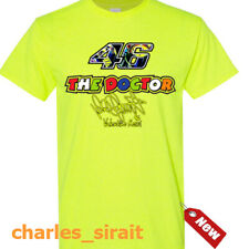 Vale VR 46 The Doctor Rossi Sign Daisy Yellow Safety Green T Shirt