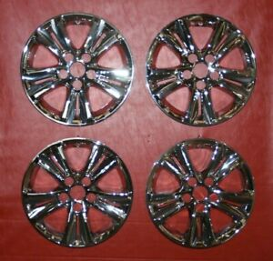 "2011-2014 Aftermarket Hyundai Sonata 16"" Chrome Wheel Skins Hubcaps Set of 4"