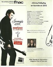 FLYER PLV - JOHNNY HALLYDAY EN CONCERT LIVE AU STADE DE FRANCE ( FRANCE ) 2012