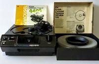 Vintage Kodak 4400 Carousel Slide Projector w Remote 140 Tray Manual UNTESTED