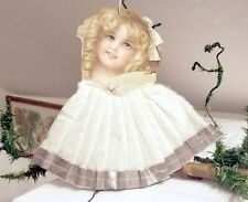 Blond-haired Girl, with Cotton Skirt. Early 1880s Pennsylvania Home-made Orn.