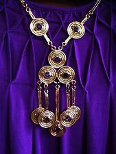 Vintage GOLDETTE Egyptian Revival Gold tone Handmade necklace