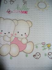 copertina lettino bebè PICCOLE EMOZIONI cotone stampato ricamato art.566