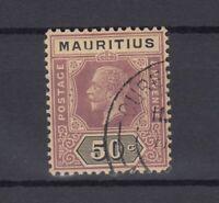 Mauritius KGV 1913/22 50c SG200 Cat £130 VFU J7228