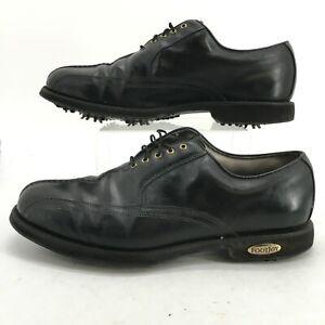 FootJoy Men 12D Classics Tour Golf Sneakers Cleats Black Leather Low Top Lace Up
