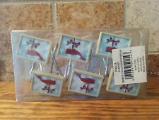 12 Decorative Shower Curtain Hooks- Jubilee Seaport Whale Theme
