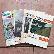 Job Lot Of Vintage Magazines - Festiniog Railway 53, 61, 64 & Steam Alive! No. 4