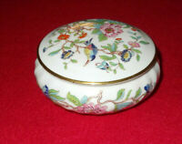 PEMBROKE BONE CHINA TRINKET DISH AND LID BY AYNSLEY