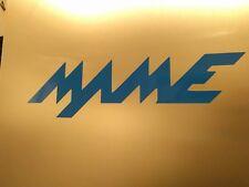"""2 pack MAME logo Gloss Blue Vinyl Sticker Decal 6"""" 3/4 x 1"""" 3/4"""