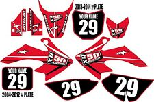 2004-2016 HONDA CRF 50 Graphics Kit Custom Number Plates Red Arrow XR50.com