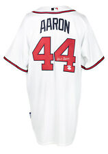 Hank Aaron Signed Atlanta Braves White Authentic Majestic Baseball Jersey JSA