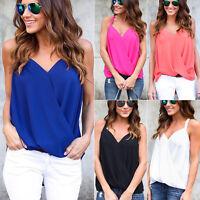 Women Summer Halter Vest Top Sleeveless Shirt Blouse Tee Casual Tank Top T-shirt