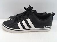 Adidas VS Pace Men's Black & White Striped Red Bottom & Inner Sole Mens Size 9