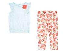 Gymboree Cherry Blossom Blue Striped Tee & Floral Flower Leggings Set 3T NEW NWT