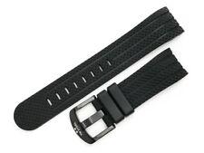 Replacement 22mm Black Rubber Strap for TW Steel Grandeur 45 Models