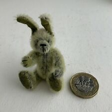More details for miniature hand made furry rabbit fully jointed bendy ears