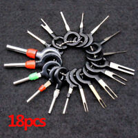 18x Car Wire Harness Plug Terminal Extraction Pick Connector Pin Remove Tool Set